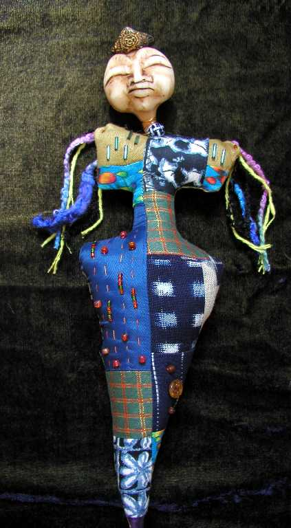 Fabric and Polymer Clay doll