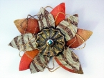 Stripe Bloom Brooch